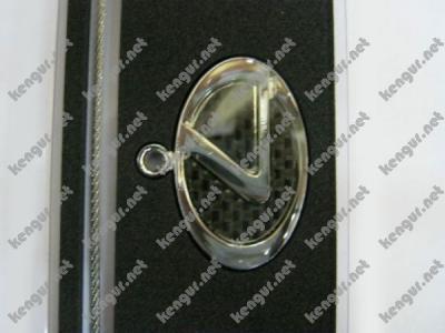 Фото Брелок на ключи  Lexus  (на тросике, карбон черный)