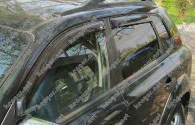 Фото Дефлекторы окон, ветровики Hyundai Tucson наружные