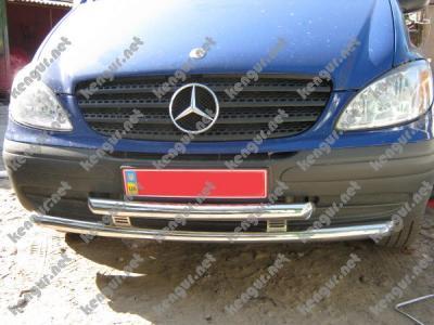 Фото Защитная дуга по бамперу Mercedes Vito двойной ус