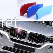 Фото Накладки на решетку (триколор) BMW X6 F16 2014-2018