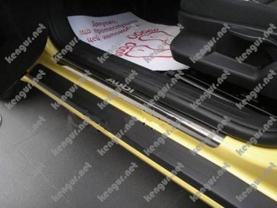 Фото накладки на пороги из нержавеющей стали FIAT DOBLO II CARGO MAXI
