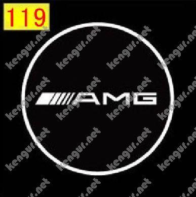 Фото Лазерная подсветка дверей с логотипом AMG (№119)