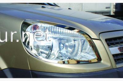 Фото Накладки на передние фары (Carmos) Fiat Doblo 2005-2010