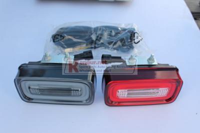 Фото Диодные фонари заднего бампера (красный+дымчатый) Mercedes G-class W463