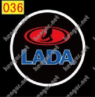 Фото Лазерная подсветка дверей с логотипом Lada (№036)