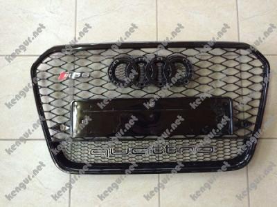 Фото Решетка радиатора на Audi A6 (2012-...) в стиле RS6 Black