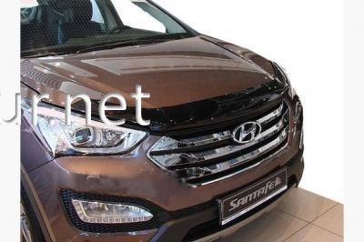 Фото Дефлектор капота - мухобойка (SIM) Hyundai Santa Fe 2012-…