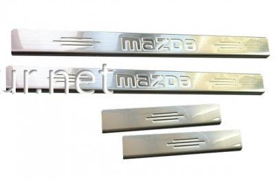 Фото Накладки на пороги Mazda 6 2003-2008