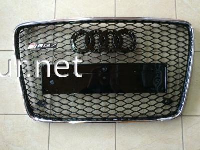 Фото Решетка радиатора Audi Q7 стиль RSQ7 Chrome (2006-2012)