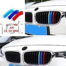 Фото Накладки на решетку (триколор, M-style) BMW 3-Series F30 2011-2017