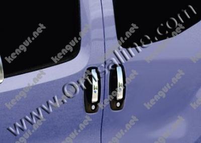 Фото Хром накладки на дверные ручки (нерж.) 4 дверн. #60877