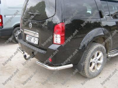 Фото Защита задняя угловая одинарная Nissan Pathfinder