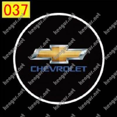 Фото Лазерная подсветка дверей с логотипом Chevrolet (№037)