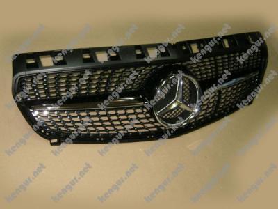 Фото Решетка радиатора Diamond (black) Mercedes W176 2013-2015