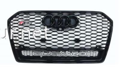 Фото Решетка радиатора Audi A6 стиль RS6 black 2014- QUATTRO