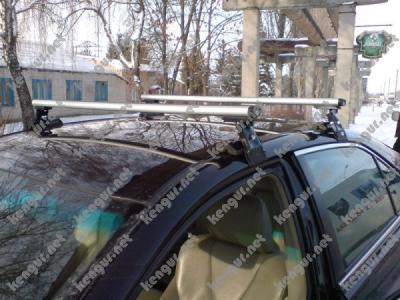 Фото Рейлинги на крышу Toyota Camry поперечные (аэродинамические) Dromader D-1