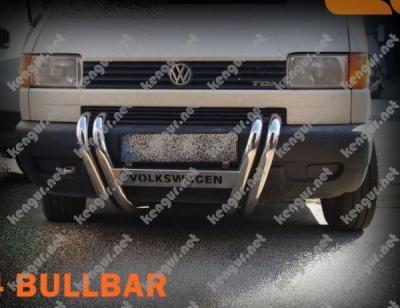 Фото Защита передняя VW T4  Батерфляй  с надписью
