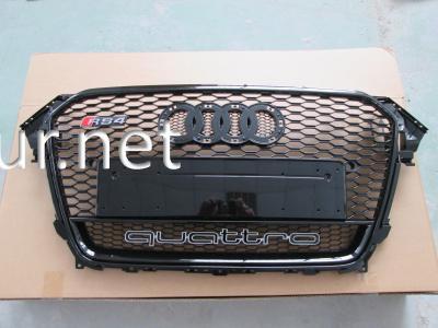 Фото Решетка радиатора Audi A4 стиль RS4 2012-2015 all black Quattro