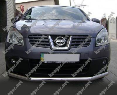 Фото Акция!!! Защита переднего бампера Nissan Qashqai одинарная