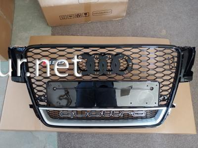 Фото Решетка радиатора Audi A5 стиль RS5 черная окантовка черная сетка QUATTRO 2008-2011