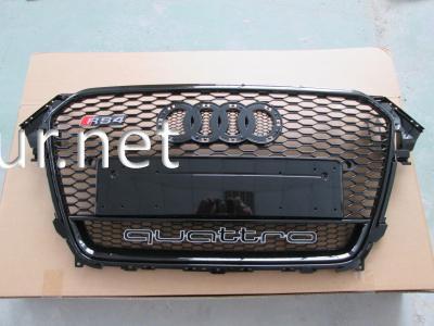 Фото Решетка радиатора Audi A4 стиль RS4 хром окантовка черная решетка Quattro