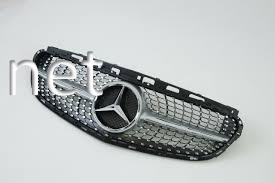 Фото Решетка радиатора Diamond (Silver) Mercedes W212 2014-2016