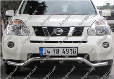 Фото Акция!!! Защита заднего бампера Nissan X-Trail изогнутый ус