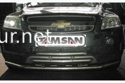 Фото Защита переднего бампера - дуга тройная (Tamsan) Chevrolet Captiva 2006-2018