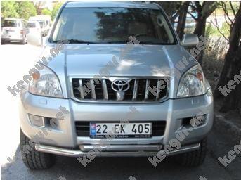 Фото Защитная дуга по бамперу Toyota Land Cruiser Prado 120 двойная