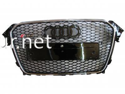 Фото Решетка радиатора Audi A4 стиль RS4 хром окантовка черная сетка 2012-