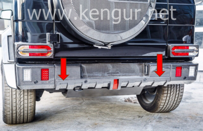 Фото Карбоновый задний диффузор стиль Brabus Mercedes-Benz G-Class W463