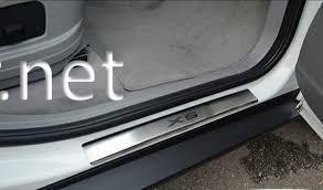 Фото Хром накладки на пороги (Premium) BMW X5 E70 2007-2013