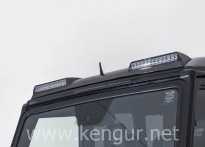 Фото Карбоновый передний спойлер с ходовыми огнями BRABUS G-Class W463