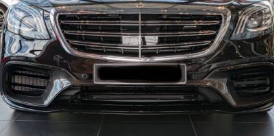 Фото Карбоновый диффузор передний на бампер W222  AMG S63 S65