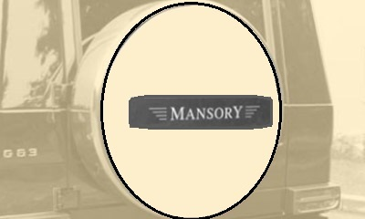 Фото Карбоновая эмблема на чехол запасного колеса стиль Mansory Mercedes-Benz G-Class W463