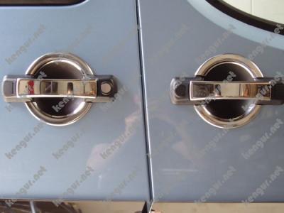 Фото Хром накладки на дверные ручки (нерж.) 3 дверн #751214