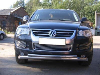Фото Защитная дуга по бамперу Volkswagen Touareg (2010 -...) двойная
