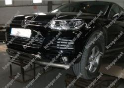 Защита переднего бампера Volkswagen Touareg двойной ус