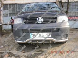 Защитная дуга по бамперу с зубами Volkswagen Transporter T6