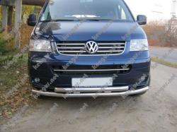 Защитная дуга по бамперу Volkswagen T5 двойной ус