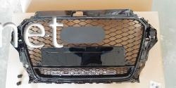Решетка радиатора Audi A3 стиль RS3 черная окантовка черная сетка 2012- QUATTRO