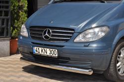 Защитная дуга по бамперу Mercedes-Benz W639 прямая