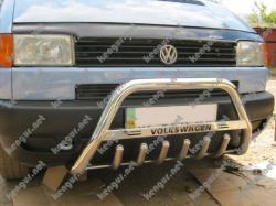 Защита передняя, кенгурятник VW T4 с грилем и с надписью