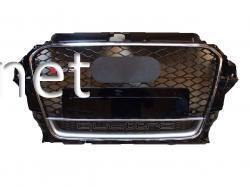 Решетка радиатора Audi A3 стиль RS3 2012- Chrome Black QUATTRO