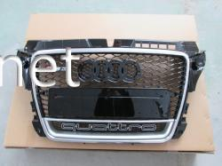 Решетка радиатора Audi A3 стиль RS3 2008-2011 Chrome Quattro