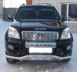 Защитная дуга по бамперу Toyota Land Cruiser Prado 120 изогнутый ус