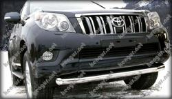 Защитная дуга по бамперу Toyota Land Cruiser Prado 150 одинарная
