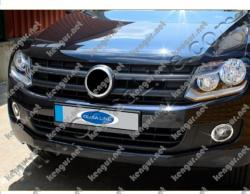 Хром окантовка на противотуманные фары Volkswagen Amarok 2 шт