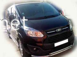 Защита переднего бампера - двойной ус (Tamsan) Ford Custom 2013-2018