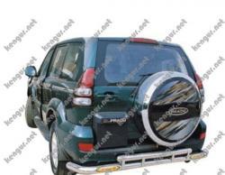 Защитная дуга заднего бампера Toyota Prado120 #617941